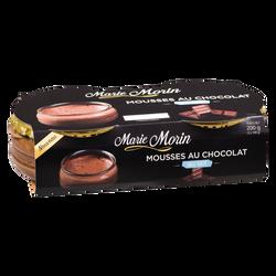 Mousse au chocolat au lait MARIE MORIN, 2x100g