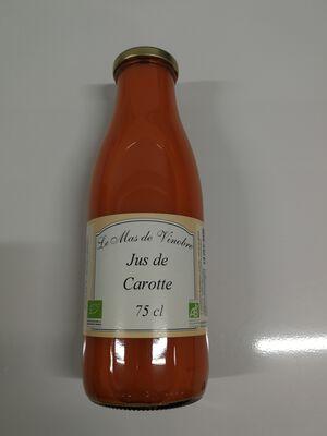 Jus de carotte bio le mas de vinobre 75cl