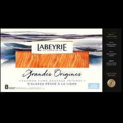 Saumon fumé sauvage argenté du Pacifique LABEYRIE, x8 soit 260g
