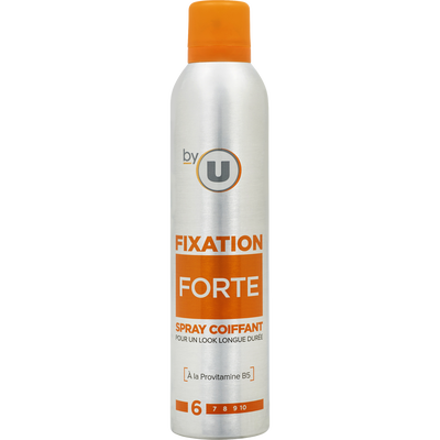 Spray coiffant fixation forte BY U, bombe 300ml