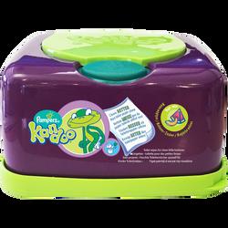 Boite rechargeable distributrice de lingettes parfum melon KANDOO, paquet de 55 lingettes