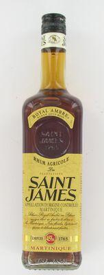 Rhum ambré agricole AOC de Martinique Royal Ambré SAINT-JAMES, 45°, bouteille de 70cl