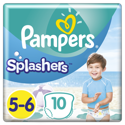 Couches Splashers PAMPERS 11-16kg Paquet Taille 5 X10