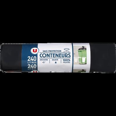 Sacs de protection pour conteneur U, 240l, x10