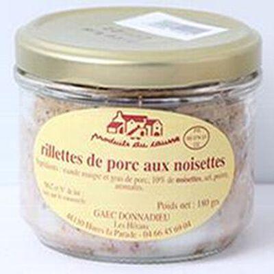 Rillettes de porc aux noisettes, Produits du causse, 180g
