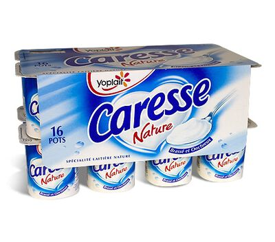Yaourt caresse gout bulgare nature, YOPLAIT 16x125G