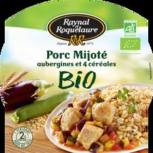 Porc mijoté, aubergines et 4 céréales bio RAYNAL ET ROQUELAURE, 285g