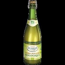 Cidre bouché biologique DUJARDIN, 4°, bouteille de 75cl