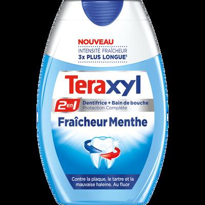 Dentifrice liquide 2 en 1 fraicheur menthe TERAXYL, tube 75ml