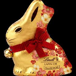 Lapin or fleur chocolat au lait LINDT, 500g