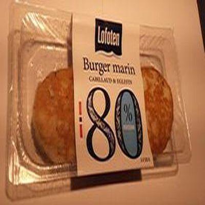 Burger marin cabillaud et églefin, 80% de poisson frais