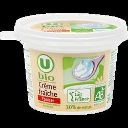 Crème fraîche épaisse U BIO, 30%MG, 20cl