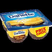 Danone Crème Dessert Saveur Vanille & Chocolat Danette, 4x125g