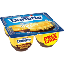Danone Crème Dessert Saveur Vanille&chocolat Danette, 4x125g