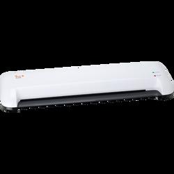Plastifieurse PL755 42x29,7cm, pour pochettes jusqu'à 2x125 microns,temps de chauffe court 2mn, système anti-blocage, sachet de démarragede 10 pochettes inclus