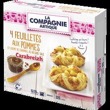 Feuilleté aux pommes crème caramel beurre salé carabreizh LA COMPAGNIEARTIQUE, 4x80g soit 320g