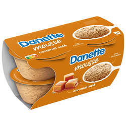 Mousse caramel salé aromatisée DANETTE, 4x60g
