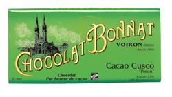 CHOCOLAT NOIR GRAND CRU D'EXCEPTION CACAO CUSCO 100G - BONNAT CHOCOLATIER