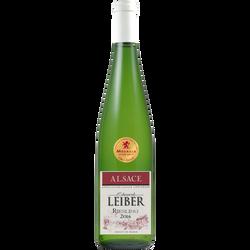 Vin blanc AOP d'Alsace Riesling EDOUARD LEIBER, médaille d'or Lyon, 75cl