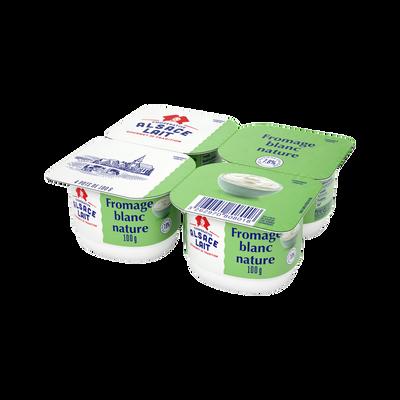Fromage blanc  ALSACE LAIT, 7,8% de MG, 4x100g