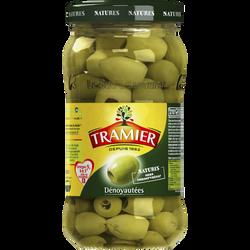 Olives vertes dénoyautées TRAMIER, bocal de 160g