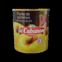 Purée de pommes sans sucre ajouté LE CABANON, 840g
