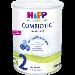 HIPP 2ème âge de suite Bio combiotic dès 6 mois, boîte 900g