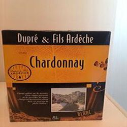 Vin Chardonnay de l'Ardèche Dupré et Fils 3L