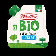 Elle & Vire Crème Fraîche Épaisse Légère Bio 12% De Matière Grasse Elle&vire, Poche Souple De 33cl