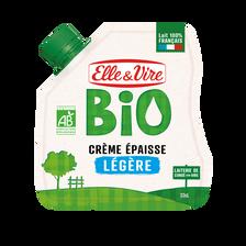 Elle & Vire Crème Fraîche Épaisse Légère Bio , 12%mg, Poche Souple De 328g