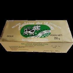 Beurre doux pasteurisé 82% de mg, FONTAINE DES VEUVES, plaquette de 250g