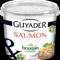 Tartinable au saumon et Boursin ail et fines herbes GUYADER, 120g