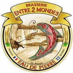 EAU DE PIERRE BIERE BLONDE BRASSERIE ENTRE 2 MONDES 75 cl