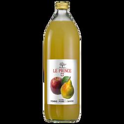 Pur jus de pomme poire, bouteille en verre de 1l