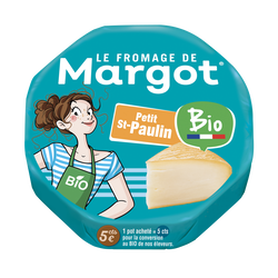 St-Paulin bio Fromage de Margot, 29,50%mg, 200g