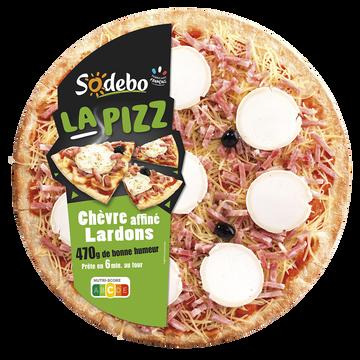 Sodeb'O La Pizza Chèvre Affiné Et Lardons Sodebo, 470g