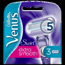 Lames pour rasoir féminin Vénus swirl GILLETTE, x3 unités