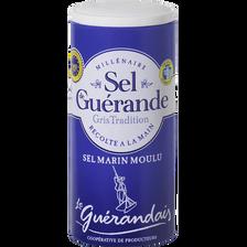 Sel marin moulu de tradition LE GUERANDAIS, boîte verseuse de 250g