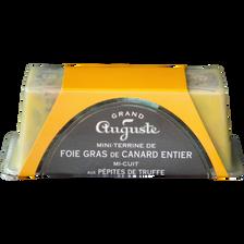 Foie gras de canard entier truffé GRAND AUGUSTE, 180g