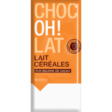 Chocolat de ménage au lait et aux céréales croustillantes, 4x100g