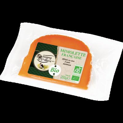 Mimolette demi-vieille BIO au lait pasteurisé  ISIGNY SAINTE MERE, 27%de MG, 200g