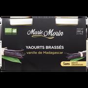 Marie Morin Yaourt Brassé Bio Vanille De Madagascar Marie Morin, 2x140g