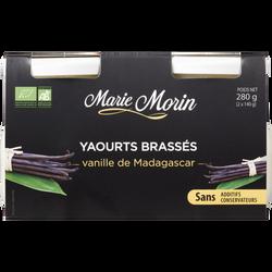 Yaourt brassé bio vanille de Madagascar MARIE MORIN, 2x140g