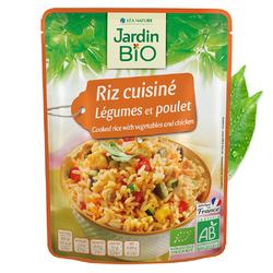 Riz cuisiné légumes et poulet JARDIN BIO 220g