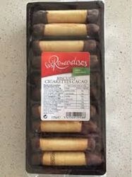 Biscuits cigarettes au cacao 125G