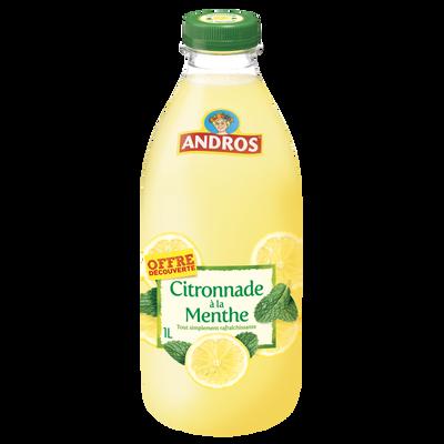 Citronnade menthe réfrigérée ANDROS bouteille 1 litre