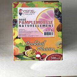 Boisson aromatisée à base de vin Rosé Pamplemousse 3L VINS ET FRUITS