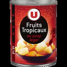 Mélange de fruits tropicaux au sirop léger U, 340g