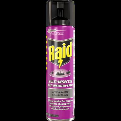 Insecticide cafards,fourmis et araignées RAID, aérosol de 400ml