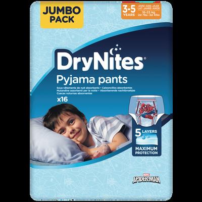 Culottes drynites 3-5 boys disney HUGGIES x16 (16-23kg)